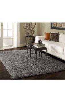 $200 Amazon.com: NEW Area Rug Shag Grey 8u0027 X 10u0027 Thick