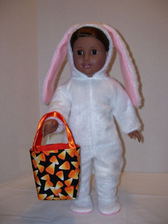 Bunny Halloween Costume and Goody Bag for American by SusyCouture