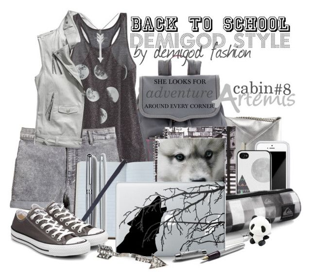 """""""Back to school - Artemis"""" by daughter-of-artemis-real ❤ liked on Polyvore featuring Nine West, Rebecca Minkoff, Coach, American Eagle Outfitters, Swarovski, Squair, Quiksilver, H&M, Smythson and ferm LIVING"""