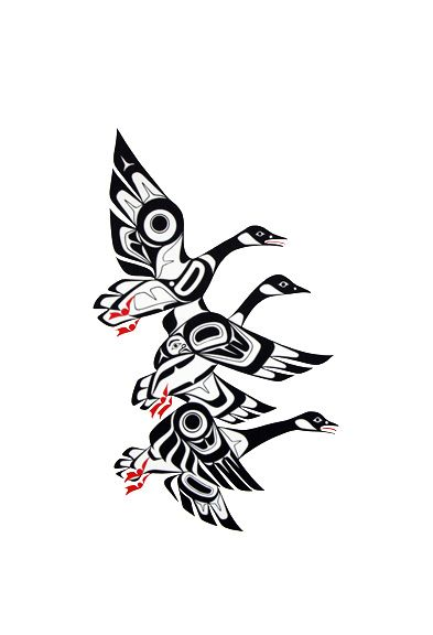 Geese-Prints - Glen Rabena, Northwest Coast Native Artist
