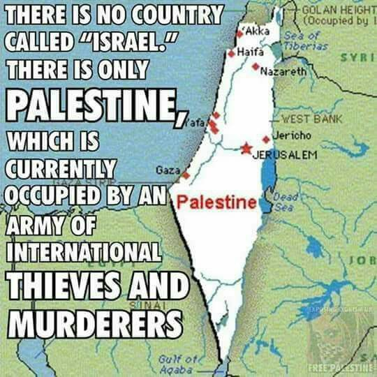 #THIS IS #PALESTINE NOT #ISRAEL . Israel is a name of a man, who was called Jacob, and God changed his name to Israel.