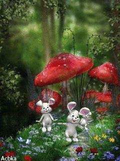 MOVING HOPPING BUNNY'S PHOTO - Bunny's  (CLICK on GIF) ♡♥♡♥♡♥♡♥ 3/25/16 fa
