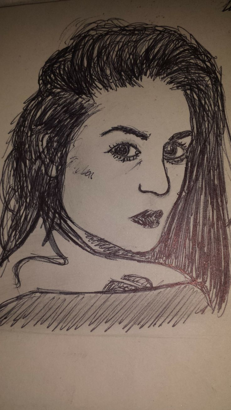 Quick sketch from a photo (pencil & pen).