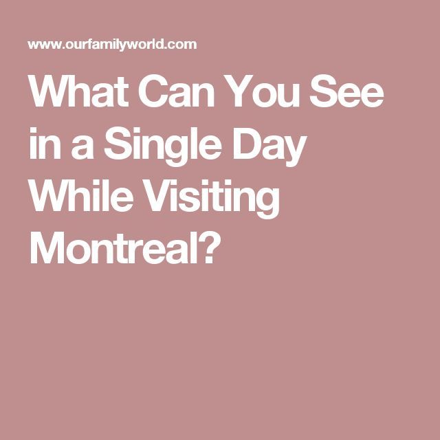 What Can You See in a Single Day While Visiting Montreal?