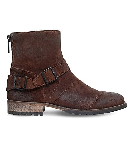 BELSTAFF Trailmaster Leather Biker Boots. #belstaff #shoes #boots