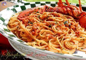 Spaghetti all'astice-ricetta primi-golosofia