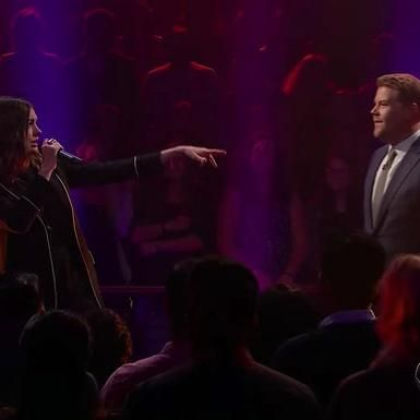 Hot: Anne Hathaway Has a Rap Battle with James Corden