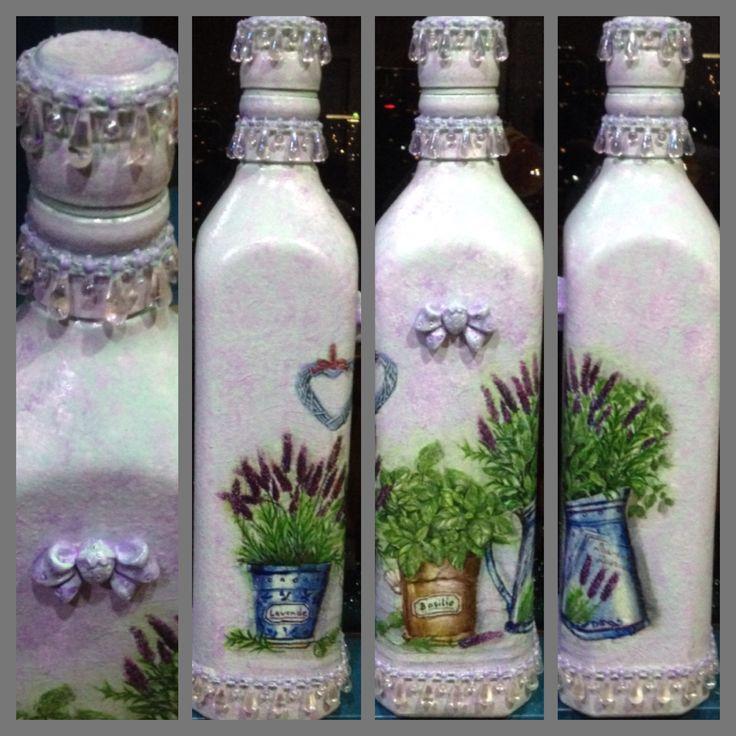 Decoupage johny walker bottle DIY