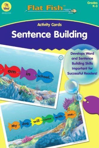 Sentence Building Flat Fish Activity Cards GR K-3 by Carson-Dellosa. $13.39. This set of cards supports the use of the Foam Flat Fish in activities that include sentence building. The cards extend and enrich the activity sheet included with each set of Flat Fish. Backs of cards are reproducible. Perfect for learning centers and small group instruction.. Save 23% Off!