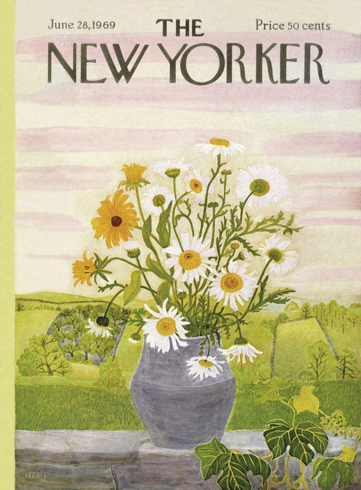 The New Yorker - Saturday, June 28, 1969 - Issue # 2315 - Vol. 45 - N° 19 - Cover by : Ilonka Karasz