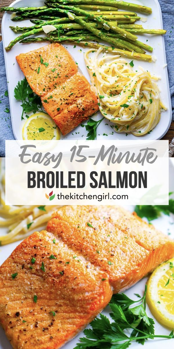 Easy Broiled Salmon Recipe Broiled Salmon Recipes Broiled Salmon Cooking Salmon