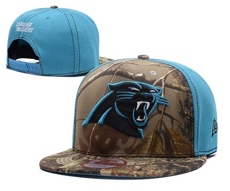 Men's Carolina Panthers Mid & Rear Panels RealTree Camo NFL Team Logo Snapback Hat - Camo / Blue