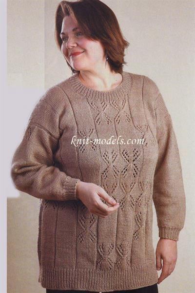 Вязать свитер для полных мужчин