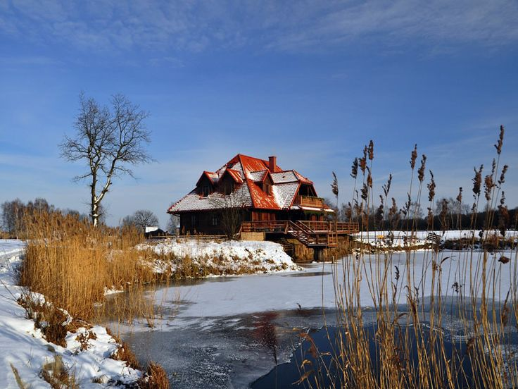 Wintertime in Kiermusy (Poland).