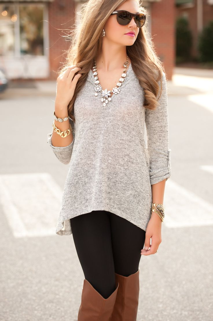 hooded gray tunic #swoonboutique