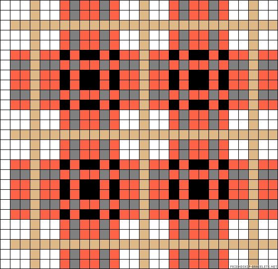 Plaid perler bead pattern