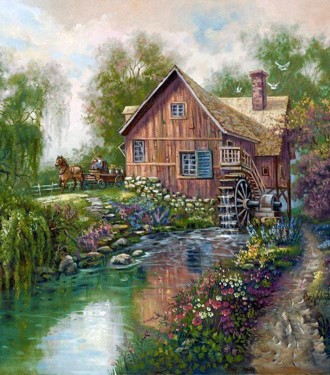 97 best charming rustic images on on Rustic Country Paintings id=91690