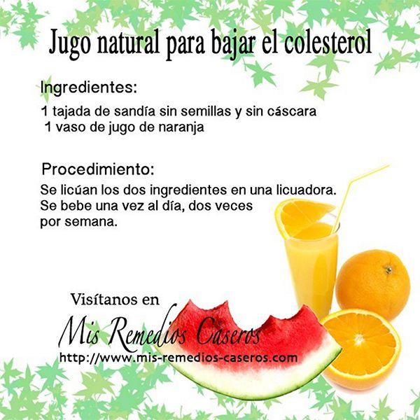jugo colesterol