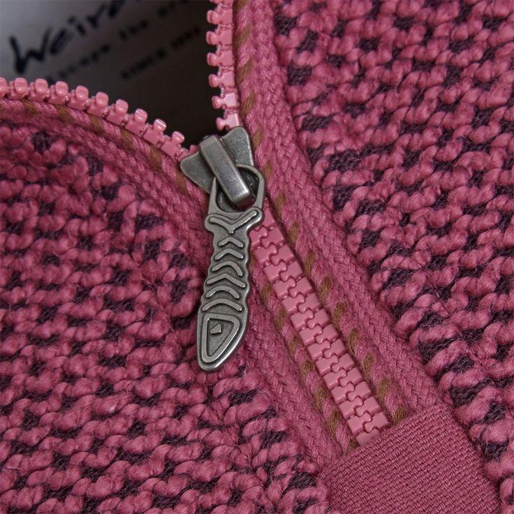 Geranium 1/4 Zip Classic Macaroni Sweatshirt Rose