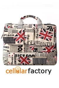 Dell Inspiron 1420 14 inch Union Jack Flag Laptop Carry Case Shoulder Bag