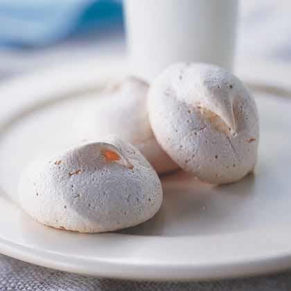 By using vanilla bean and extract, you'll get double the vanilla flavor in these meringue cookies.