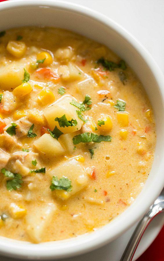 Chipotle Chicken and Corn Chowder Recipe