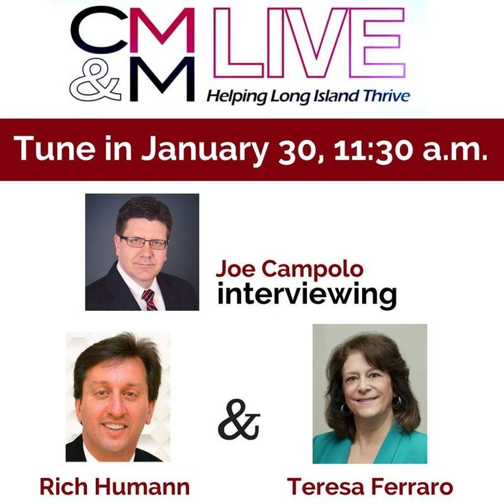 Tune into the Facebook broadcast of CM&M Live this Tuesday, January 30th at 11:30 AM to catch our President and CEO Rich Humann's interview alongside Teresa Ferraro. You don't want to miss it!   #H2M #Architects #Engineers #Architecture #Engineering #Design #Services #Education #Fire #EMS #Energy #Industry #ForensicEngineering #Municipalities #PublicAgencies #RealEstate #Wastewater #Water