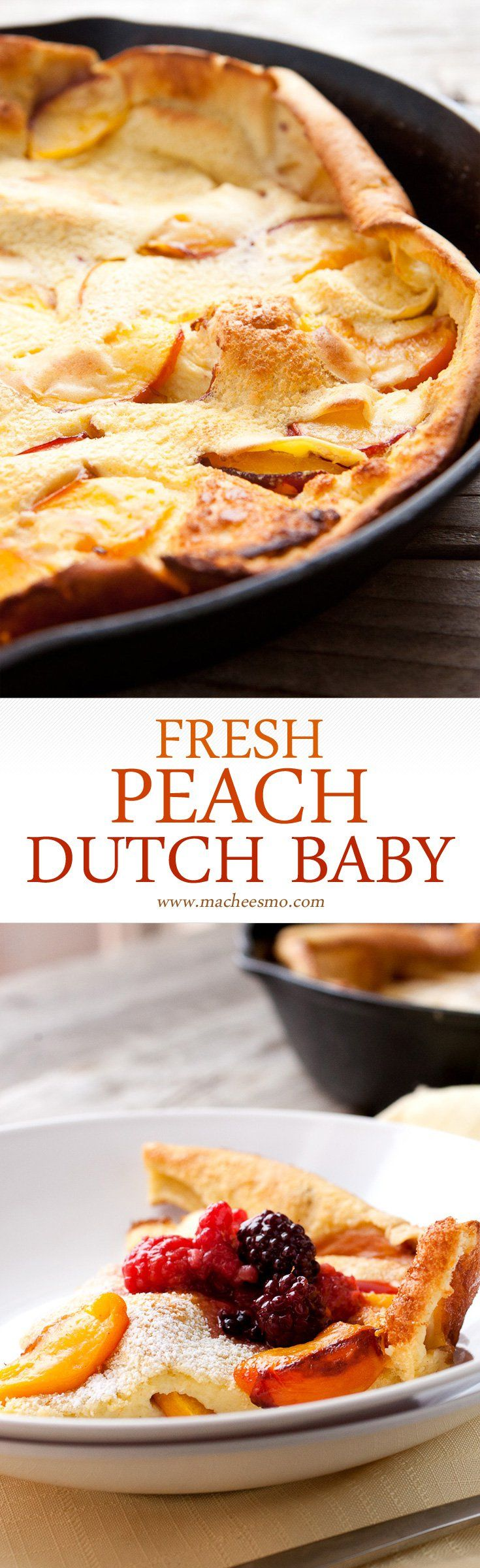 fresh peach dutch baby fresh peach dutch baby in season perfect ...