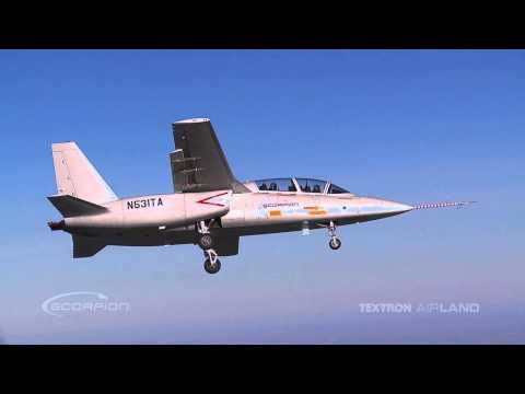 Textron AirLand Scorpion Jet - First Flight - YouTube