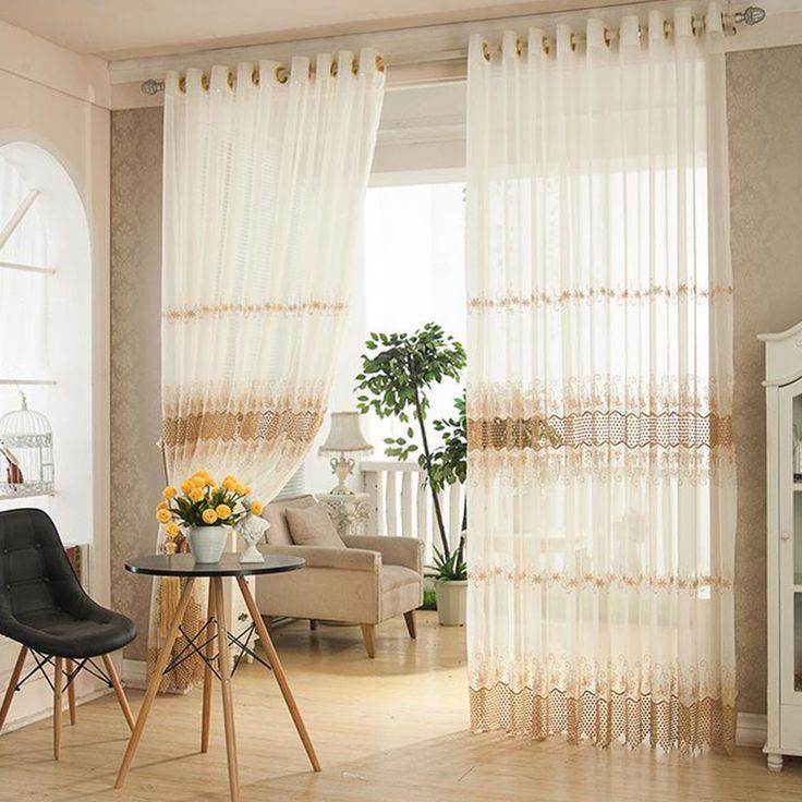solo panel diseo floral cortina escarpada de tulle tela hogar para sala de estar