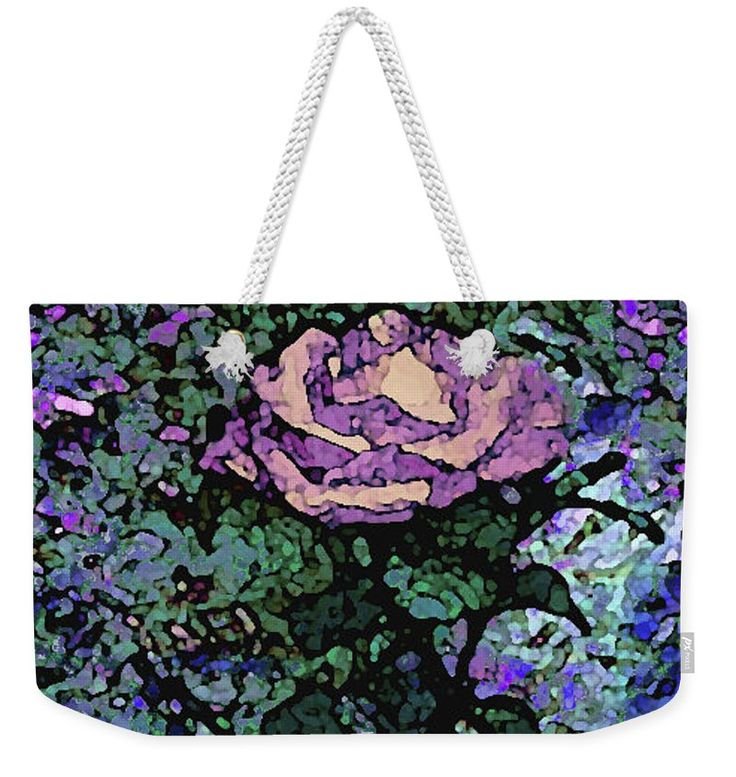 Rose Of Purple And Peach Weekender Tote Bag for Sale by Corinne Carroll