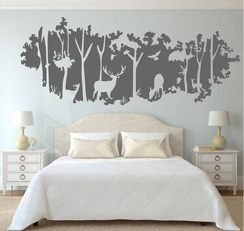 Deer Nursery Wall Decal is a super decal for your living room, playroom and nursery room wall decors. Decals can be installed on smooth, clean, flat and dry surfaces, such as walls, windows, doors, mi