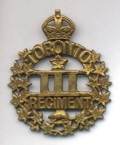 Badge of the 3rd Battalion, Canadian Expeditionary Force WWI, perpetuated by both the Queen's Own Rifles of Canada and the Royal Regiment of Canada