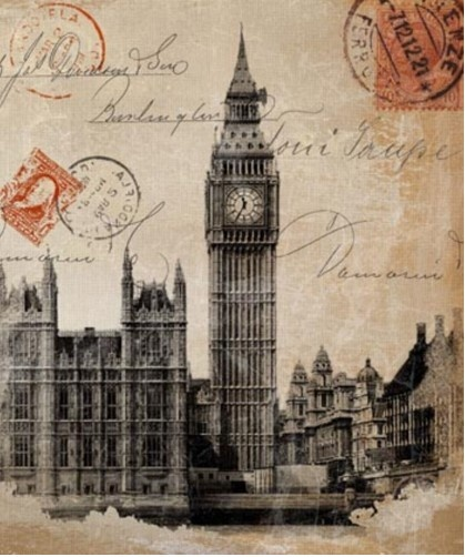 Wall Art - Big Ben Stamp - Lacquered Print