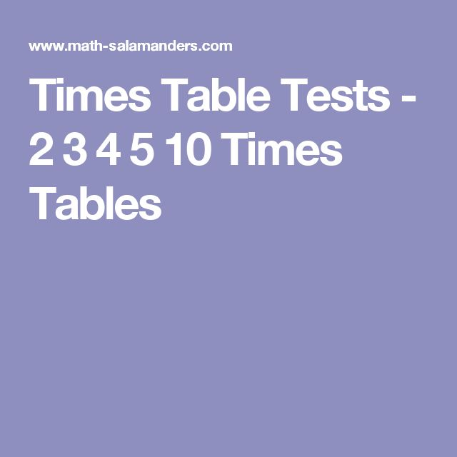 25+ best ideas about Times tables test on Pinterest | 3 times ...
