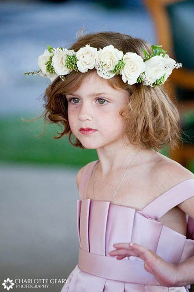Flower Girl In Light Pink Dress With Rose
