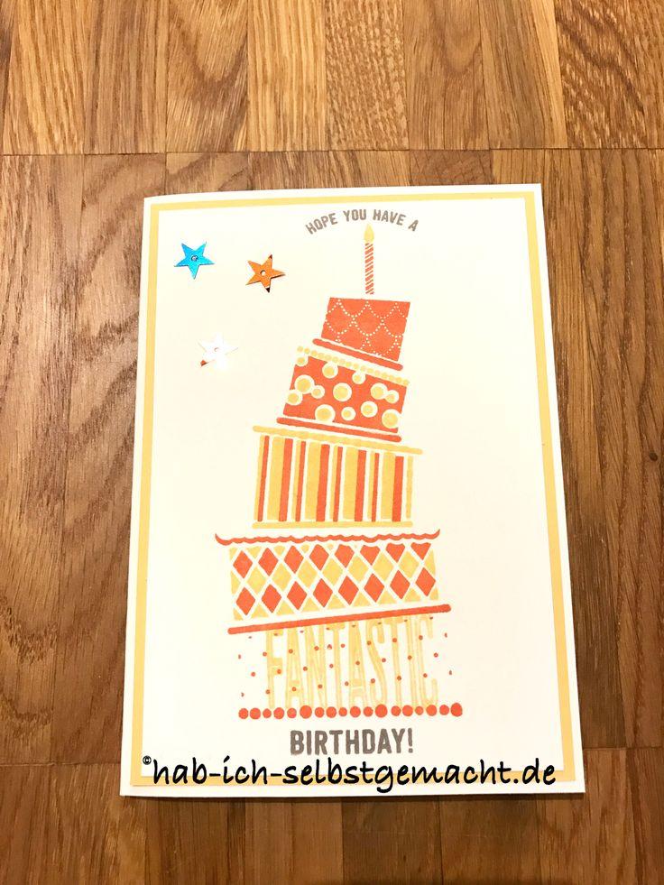 Hab Ich Selbstgemacht Geburtstagskarte Stampin Up Cake Crazy Sale-A-Bration 2017