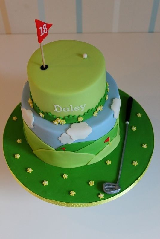 My boyfriends birthday... Golf Cake