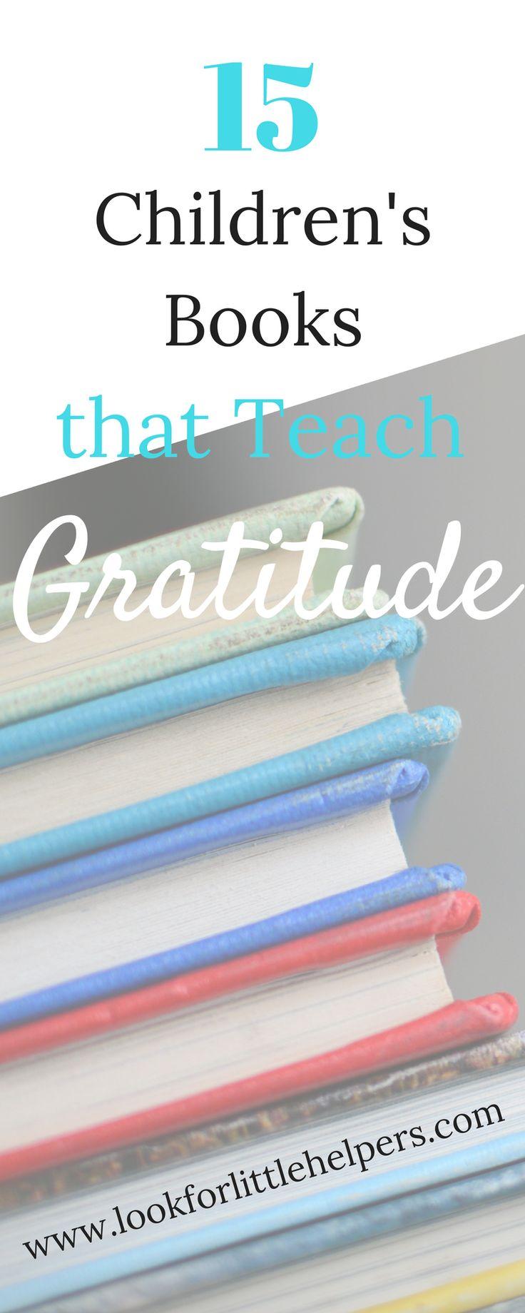 Teach kids to be grateful.  Books that teach gratitude. #gratitude