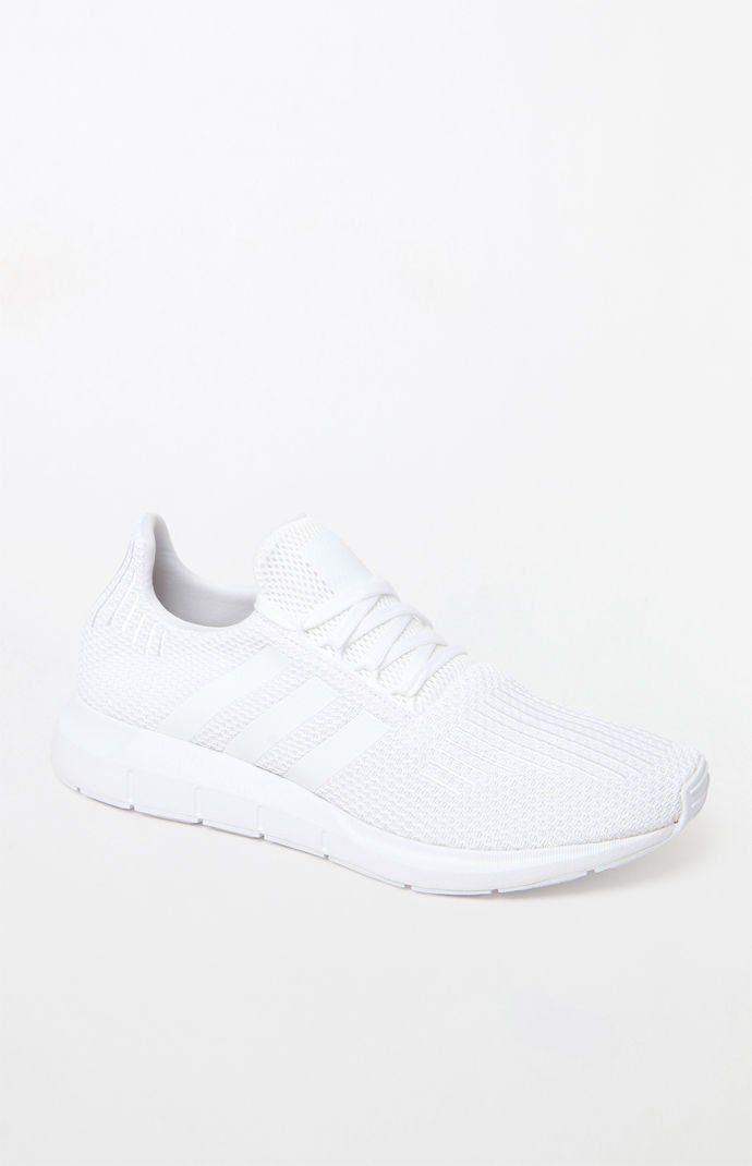 Adidas Swift Run White Shoes Adidas White Shoes White Tennis Shoes White Running Shoes