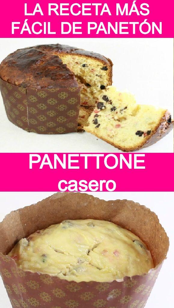 Mi Receta Más Fácil De Panetón Panettone Recetas De Comida Recetas Fáciles Pan De Pascua