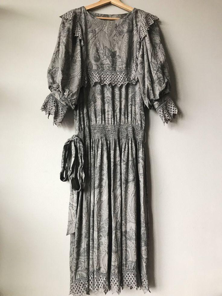 Grey Silk Vintage Dress.JPG