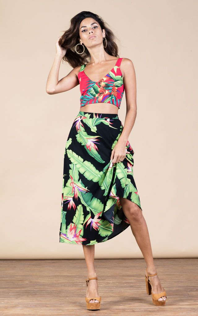Click to view Ariel Skirt in Banana Leaf