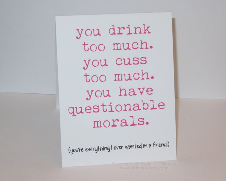 Funny Friendship Card - Funny Relationship Card - Just Because Card by PersonalPaperHugs on Etsy https://www.etsy.com/listing/246272588/funny-friendship-card-funny-relationship