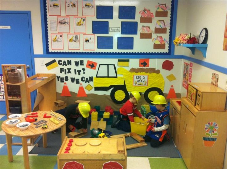 This is one of the enhancements for our dramatic play area. The children helped the teacher create a construction site during the tools and machines unit. The children used blocks, hammers, screw drivers, levels and so many more tools as they build different buildings, factories and structures. The children were arctitects, construction workers and used their imagination to be whatever they wanted to be! They used their hand-eye coordination, role paying skills, cooperation and…