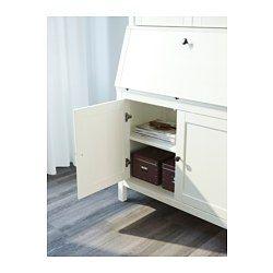 IKEA - HEMNES, Sekretär mit Aufsatz, hellbraun, , Integrierter Kabelsammler; so bleiben Kabel außer Sichtweite, aber griffbereit.Massivholz ist ein strapazierfähiges Naturmaterial.Höhenverstellbare Fußkappen sorgen für Standfestigkeit auch bei unebenem Boden.Die Türen schließen sich durch integrierte Dämpfer langsam, sanft und geräuschlos.Dank der versetzbaren Böden lässt sich die Aufbewahrung ganz dem Bedarf anpassen.Hinter den Türen lassen sich z.B. Ordner aufbewahren - außer Sicht, aber…