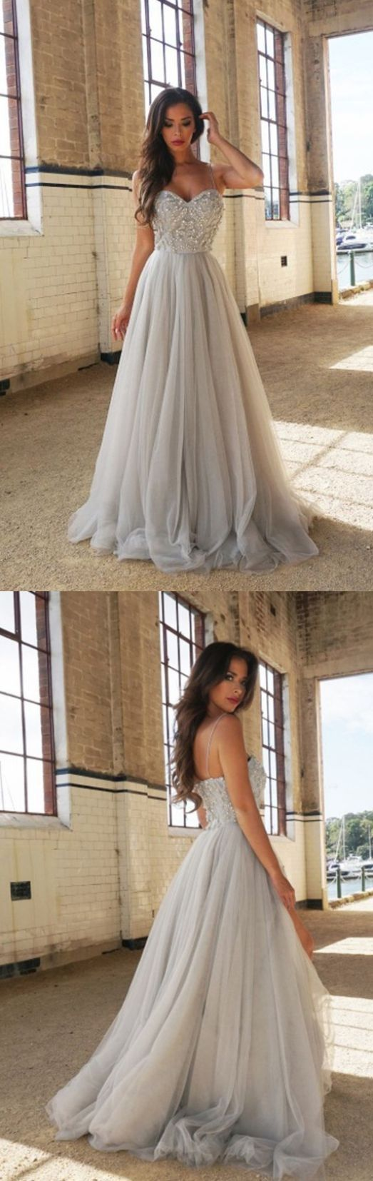 A line Wedding Dresses, Long Wedding Dresses #WeddingDressesPrincess