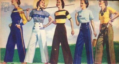 1930s pants women