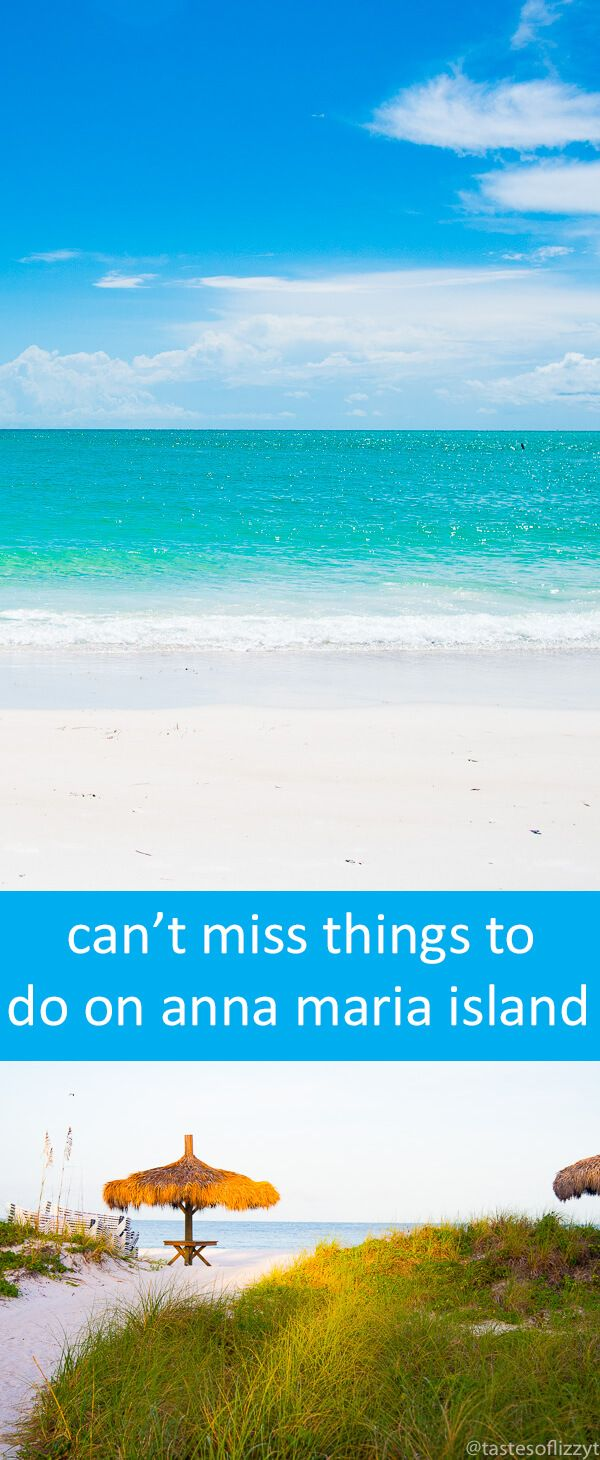 Planning a vacation to Anna Maria Island, Florida?  Here are the top things to do on Anna Maria Island! Whether you are having a family vacation, a girl's getaway, or a romantic weekend for two, you'll love all that Anna Maria Island has to offer. via @tastesoflizzyt #hosted