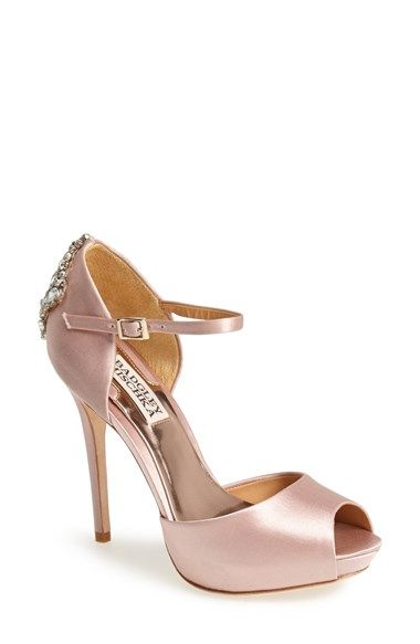Badgley Mischka 'Gene' Crystal Back Ankle Strap Pump (Women) available at #Nordstrom